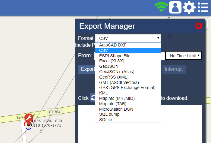 Some of the Export formats available in Atlas